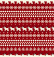 winter christmas sweater seamless pattern vector image