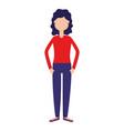 woman character cartoon vector image vector image
