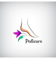Woman foot pedicure logo Abstract design concept vector image vector image