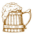 Wooden beer mug vector | Price: 1 Credit (USD $1)