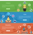 Yoga and Fitness Horizontal Banners vector image vector image