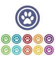Animal signs colored set vector image