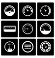 black meter icon set vector image vector image