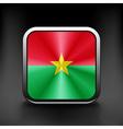 Burkina Faso icon flag national travel icon vector image