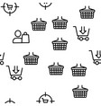 buyer elements seamless pattern vector image vector image