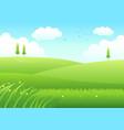 cartoon meadows vector image