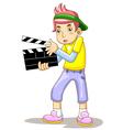 Cartoon Movie Slate vector image vector image