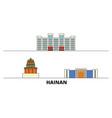china hainan flat landmarks vector image vector image