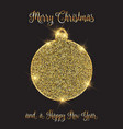 christmas and new year background with glittery vector image vector image