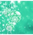 Christmas bokeh background with baubles EPS 8 vector image vector image