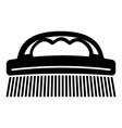 cleaning brush icon simple style vector image