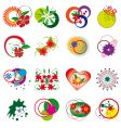 collection of decorative floral elements vector image