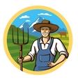 color farmer vector image vector image