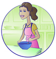Cooking Girl vector image vector image