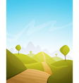 Countryside Cartoon Landscape vector image vector image