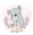 cute koala motherhood vector image