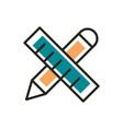 design web development icon line and fill vector image vector image