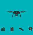 drone quadrocopter icon flat vector image vector image