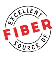 Excellent source of fiber stamp vector image