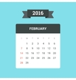 February 2016 Calendar vector image vector image