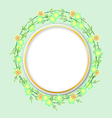 flower with circle vector image vector image