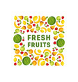 fresh fruits banner template design element can vector image vector image