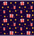 funny festive seamless pattern gift boxes vector image