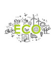 green energy ecology lifestyle recycle vector image vector image