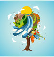 green world tree concept for nature help vector image vector image