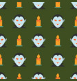 Halloween seamless pattern with ghost and candle