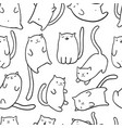 hand draw funny cats vector image vector image