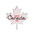 happy canada day lettering vector image vector image