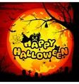 Happy Halloween sign for Halloween vector image