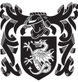 heraldic silhouette No6 vector image vector image