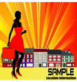 High street shopping vector | Price: 1 Credit (USD $1)