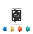 holy bible book icon isolated on white background vector image vector image