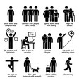 how to be a happier person stick figure pictogram vector image vector image