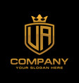 initial letter ua monogram logo vector image