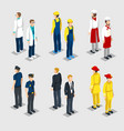 isometric professions collection vector image vector image