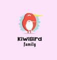 kiwi bird logo vector image