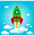 Launch rocket vector image