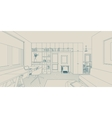 Line interior drawing vector image vector image