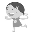Little girl in dress smiling vector image vector image