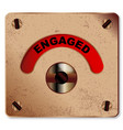 loo engaged indicator vector image vector image