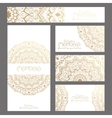 Mandala pattern design template vector image