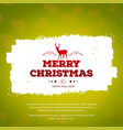 merry christmas creative design with green vector image