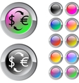 Money exchange multicolor round button vector image vector image