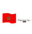 moroccan independence day banner vector image vector image