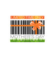 mothers day sale sign isolated limited time only vector image vector image
