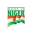 niger flag on a white vector image vector image